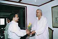 Congratulating BSP Founder Chairman Mr Kanshi Ram on his birthday while the then Chief Minister Ms Mayawati also present