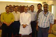 With Union Transport Minister Dr CP Joshi at his office with SIPRA officials, after oath taking ceremony