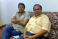 With famous film artist Mr Arun Govil before his shooting at Dehra Dun