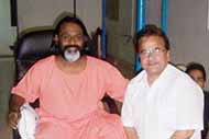 With famous spiritual master Acharya Datiji Maharaj at his Delhi residence