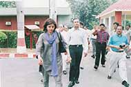 With Anil Ambani during one of his visits at the Chief Minister's residence