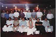 The entire cabinet of the officers of the then Governor Mr Vishnu Kant Shastri during the president rule in Uttar Pradesh
