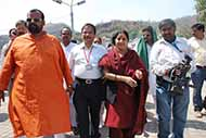 Accompanying Union Minister Ms Shushma Swaraj during her Haridwar visit